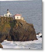 Aerial View Of The Point Bonita Lighthouse California Metal Print