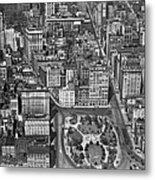 Aerial View Of Union Square Metal Print