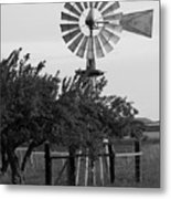 Aermotor Windmill San Joaquin County Ca Metal Print