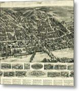 Aero View Of Watertown, Connecticut  Metal Print