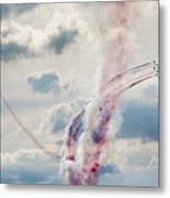 Aerobatic Group Formation  At Blue Sky Metal Print
