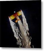 Aerobatics With Firework Metal Print