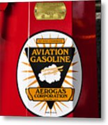 Aerogas Red Pump Metal Print