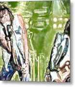 Aerosmith Watercolor Metal Print