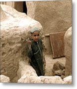 Afghan Child Metal Print