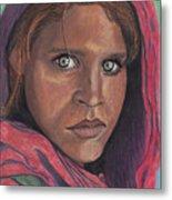 Afghan Girl Metal Print