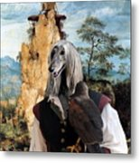 Afghan Hound-falconer And Windmill Canvas Fine Art Print Metal Print