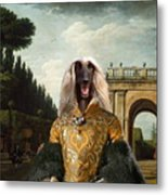 Afghan Hound-the Afternoon Promenade In Rome  Canvas Fine Art Print Metal Print