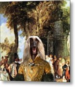 Afghan Hound-the Winch Canvas Fine Art Print Metal Print