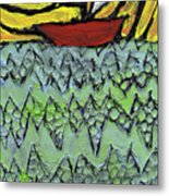 Afloat On The Bubbling Sea Metal Print