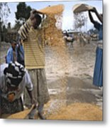 Africa, Ethiopia, Woman And Boy Metal Print