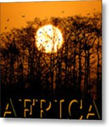 Africa Smart Phone Work A Metal Print