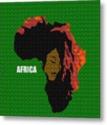 Africa Woman Metal Print