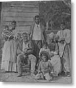 African American Slave Family Metal Print by Everett