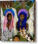 African Angels Metal Print by The Art With A Heart By Charlotte Phillips