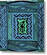 African Blue Bird Metal Print