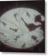 African Dance Stool Metal Print