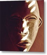 African Mask With Sunlight  Metal Print