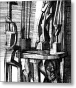 African Statues Metal Print