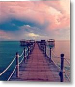 African Sunrise Cotton Candy Skies Metal Print