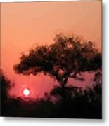 African Sunset Metal Print