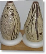African Terracotta Gourds - View Two Metal Print