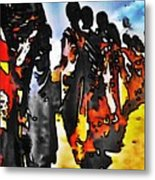 African Tribal Stand Metal Print