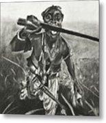 African Warrior Metal Print