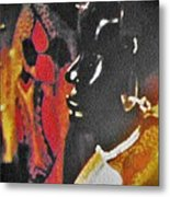 African Woman Statue Metal Print