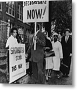 Africans American Protest School Metal Print by Everett