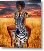 Afrikkan Princess  Metal Print
