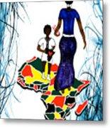 Afrique Walk Metal Print