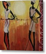 Afro Abstract Metal Print