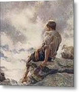 After Being Shipwrecked Robinson Crusoe Metal Print