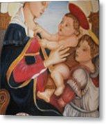 after Botticelli Madonna con il Bambino e un Angelo Metal Print