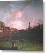 After Canal Grande Looking Northeast Metal Print