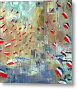After Monet's Rue Montorgueil Metal Print