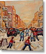 After School Hockey Game Metal Print