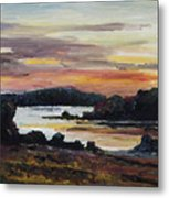 After Sunset At Lake Fleesensee Metal Print