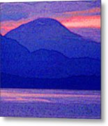After Sunset Mountains 5 Pd Metal Print