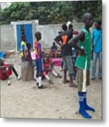 After The Game - Goree Boys Metal Print by Fania Simon