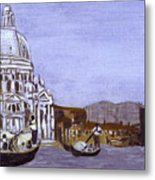 After The Grand Canal And The Church Of The Salute Metal Print