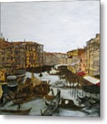 After The Grand Canal Metal Print