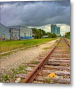 After The Last Train Out Metal Print