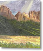 After The Monsoon Organ Mountains Metal Print