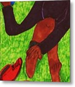 After The Race Ouch Metal Print