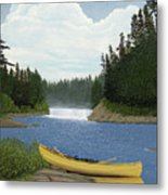 After The Rapids Metal Print