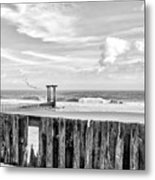 After The Storm Black And White Metal Print