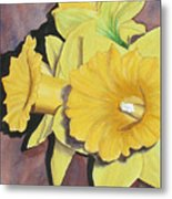 After The Tulips Metal Print