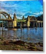 Afternoon At Siuslaw River Bridge Metal Print